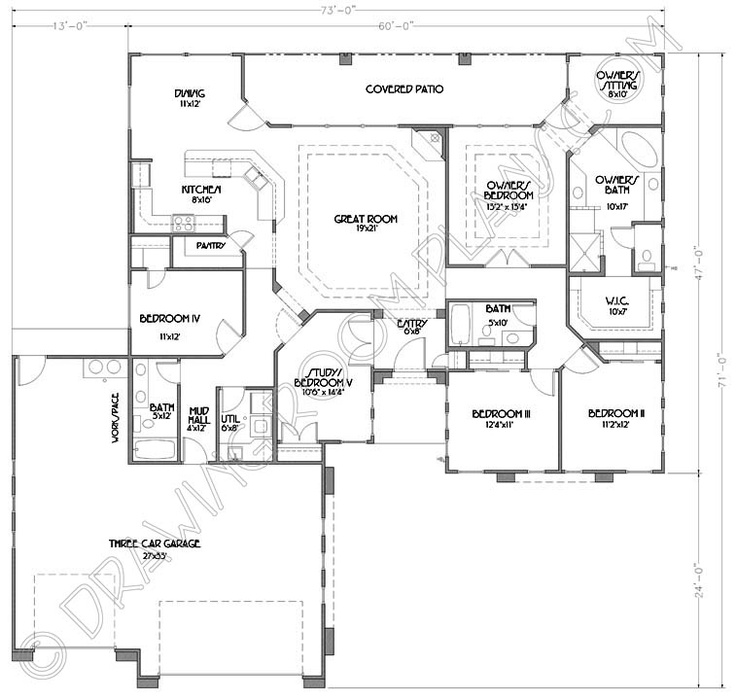 St. George Utah Home Plans | Custom Home Designs | Stock Plans |  Architectural Floor