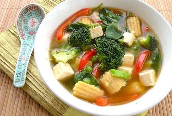 This quick and colorful soup will please anyone who enjoys Asian flavors. Description from vegkitchen.com. I searched for this on bing.com/images