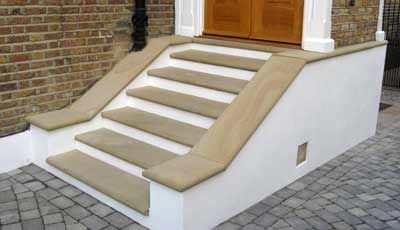 Yorkstone steps with bullnose edging