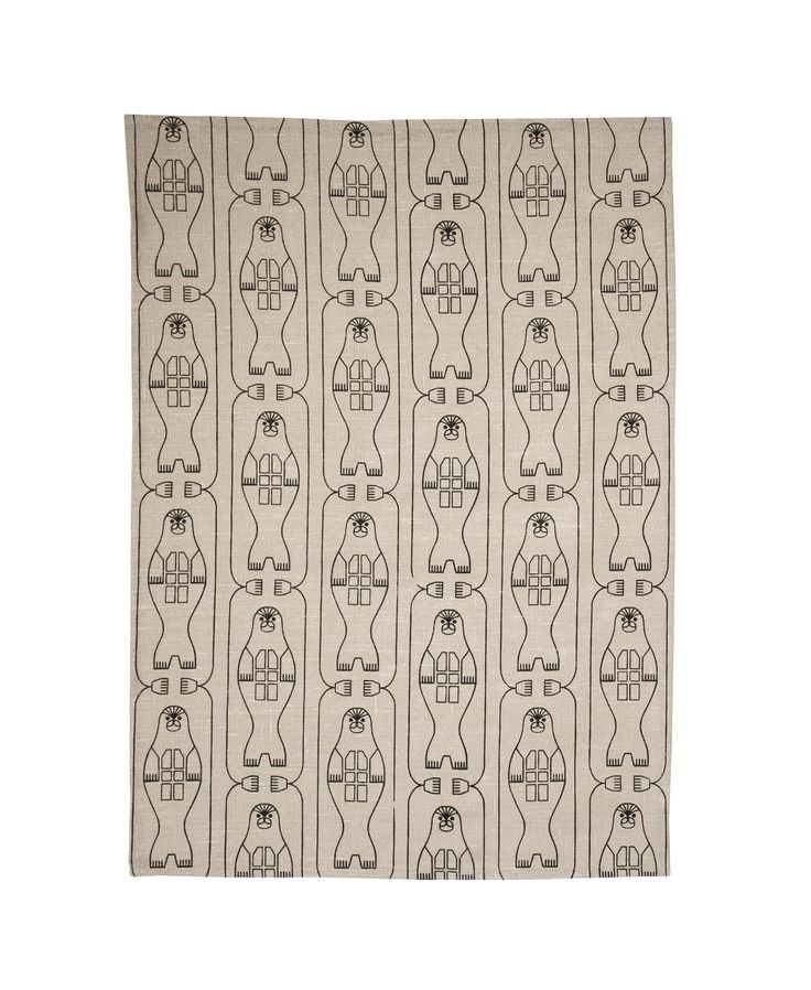 Norppa (Ringed Seal) tea towel. Design by Riikka Kaartilanmäki 2016.