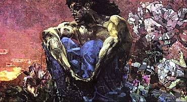 Absolute favourite. One of the best paintings ever created. M. Vrubel - Seated Demon