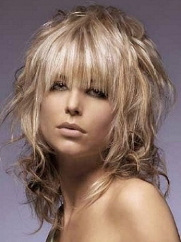 shaggy haircuts for curly hair medium shaggy hairstyles with bangs hair 4952
