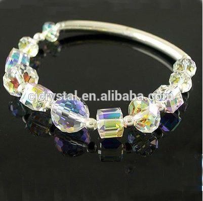 Kubus kristal kralen, kralen voor het maken van ketting en oorbellen en armband