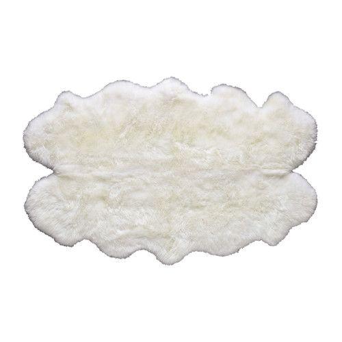 Alfombra marfil de piel de oveja 110 × 180cm