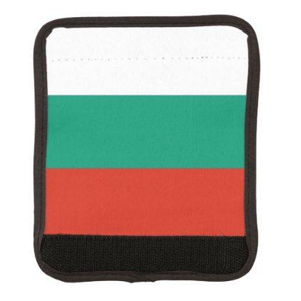 #Patriotic Bulgarian Flag Luggage Handle Wrap - #travel #accessories