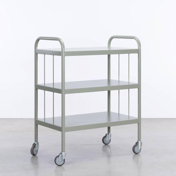 De Tubax studio BE trolley is een ijzeren trolley. Een oud ontwerp trolley, dat vroeger veel gebruikt werd in ziekenhuis. Nu weer als nieuw leverbaar, in 4 kleu