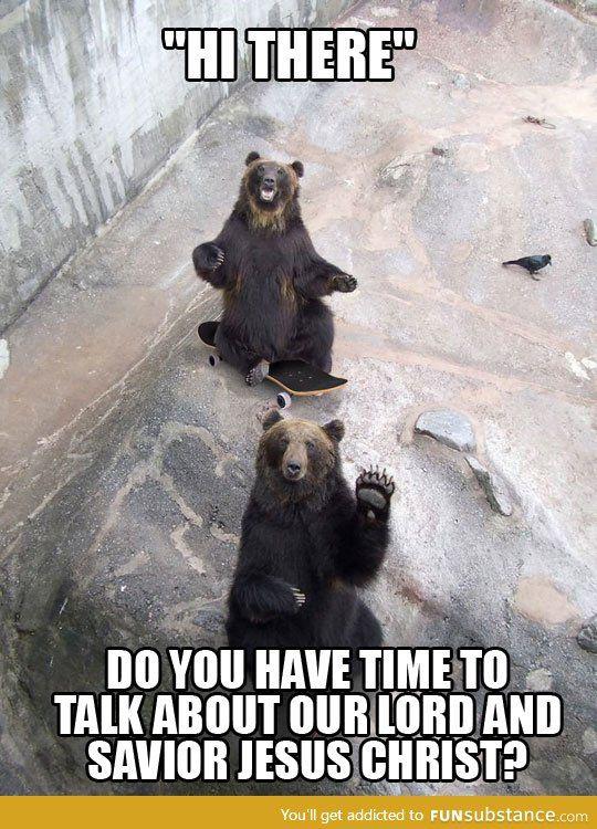 Jehovah witness bears