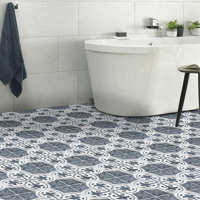 Legacy Indigo Is A Traditional Floor Tile By British Ceramic Tile From The Statement Range A Traditional Blue Patterned Tile Floor Flooring Ceramic Floor Tile