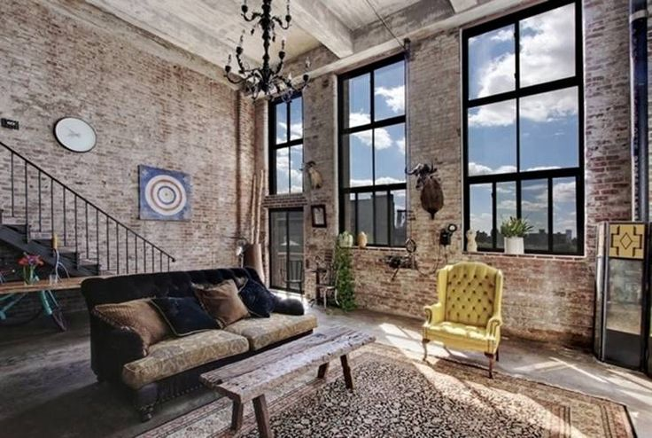 Brooklyn apartment...I like the emphasis on daylight and use of the double volume space