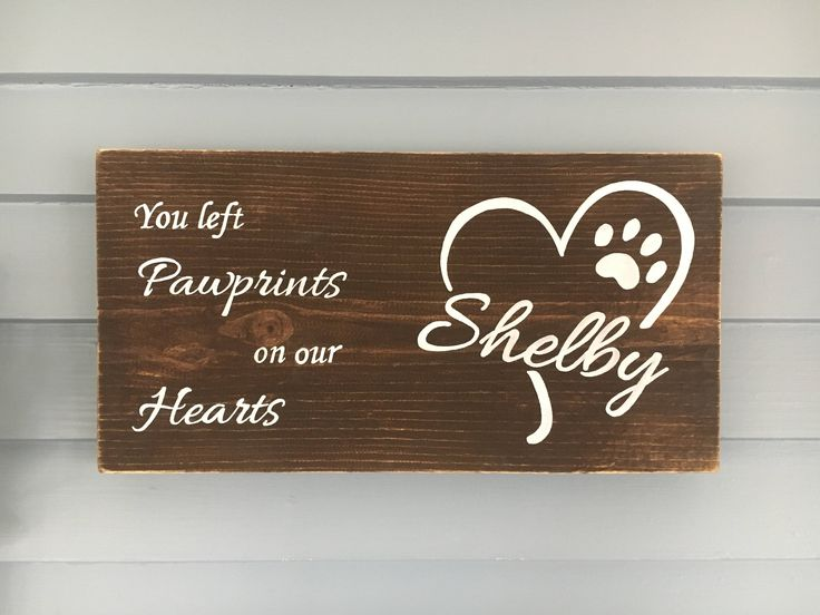 Excited to share the latest addition to my #etsy shop: Pet Memorial Plaque, Pet Memorial Sign, Pet Memorial Gift, Custom Pet Sign, Pet Loss, Dog Memorial Sign, You Left Paw Prints on our Hearts