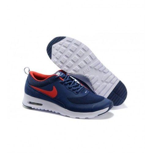 Nike Homens - Comprar Nike Air Max Thea Print Homens Tenis De Corrida Dark Azul Vermelho 0922