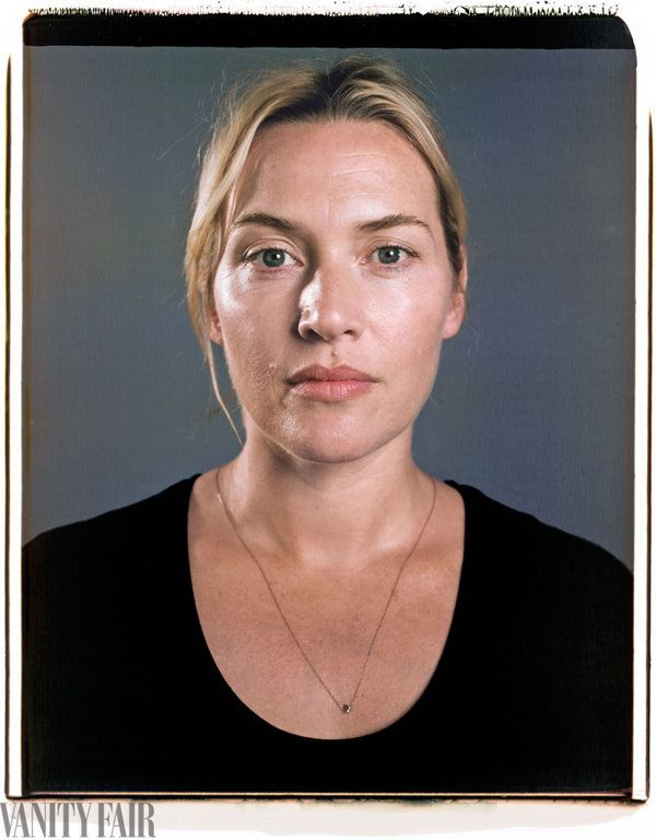 The amazing Kate Winslet.  We are close in age and coloring so I am particularly pleased to see her pose without makeup or airbrushing.  She still glows!