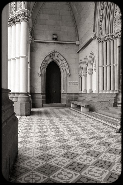 Donna is leaving the beautiful St. Josephs cathedral in Dunedin, New Zealand. (Give it a couple of seconds and it will start)