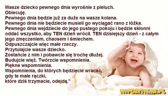 My Pozytywni - Wasze dziecko pewnego dnia wyrośnie z pieluch.