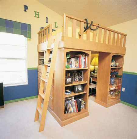 Loft Bed With Storage Love The Extra Storage But For Me Id Want