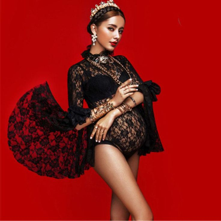 Lace Maternity Photography Props Maternity Dresses For Photo Shoot Pregnancy Dress Photography Vestidos For Pregnant Women – 1.Mom 2 Be