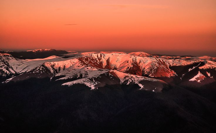 Winter sunset - Photo taken near Furnica Peak (elev. 2103m) in the Bucegi Massif, Romania.