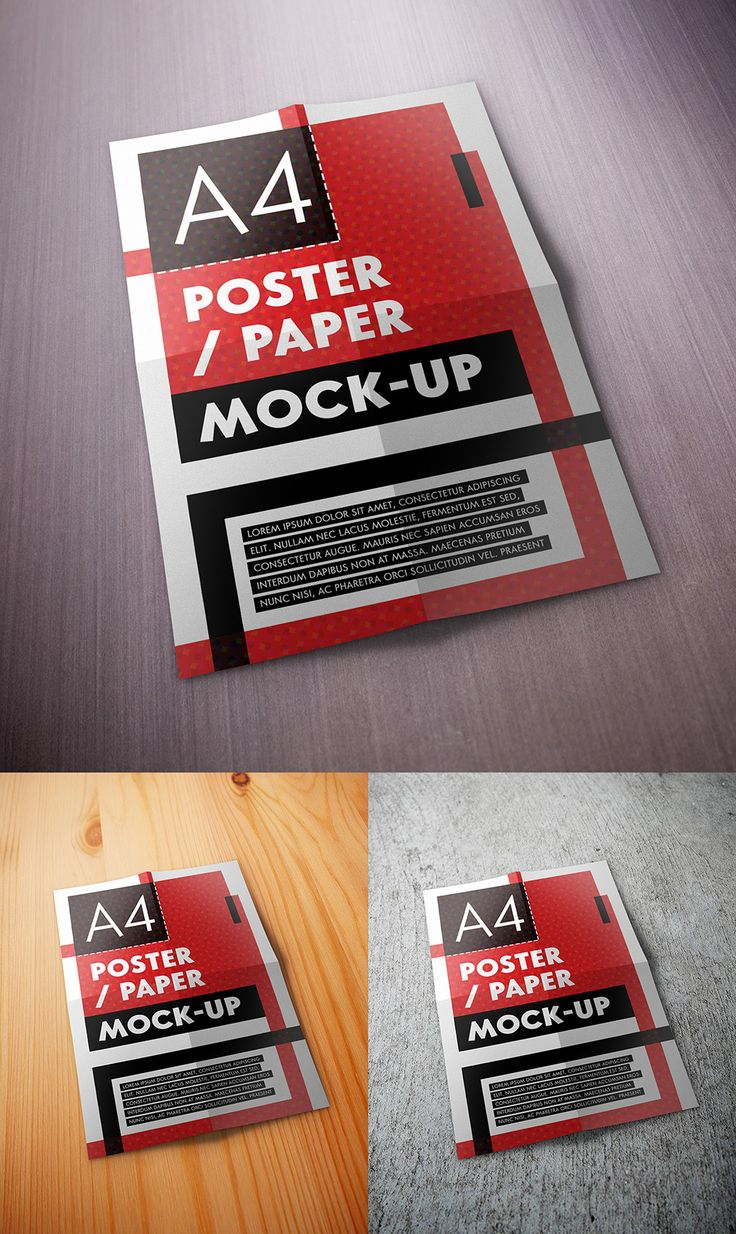 Mock-up –  A4 Poster