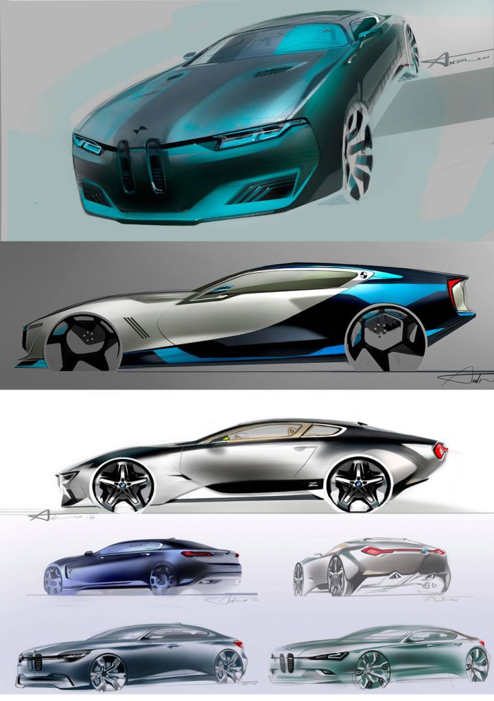 Daily Sketch: BMW studies by Andrei Trofimtchouk gallery:  Check Andrei's work at: https://www.behance.net/atcarstylie416