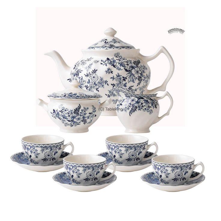 Johnson Brothers Devon tea set  sc 1 st  Pinterest & 188 best Johnson Brotheru0027s China images on Pinterest | Johnson bros ...