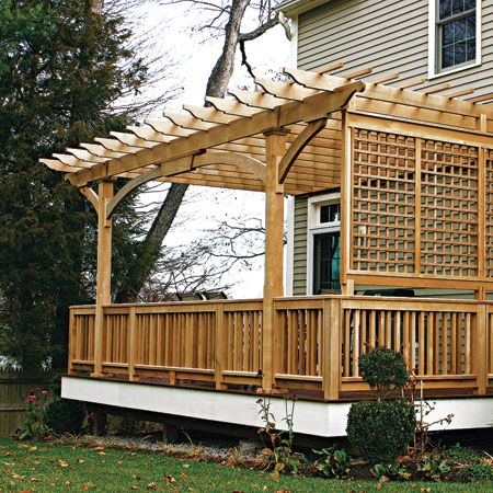 Deck privacy - excellent space for a grape vine or three
