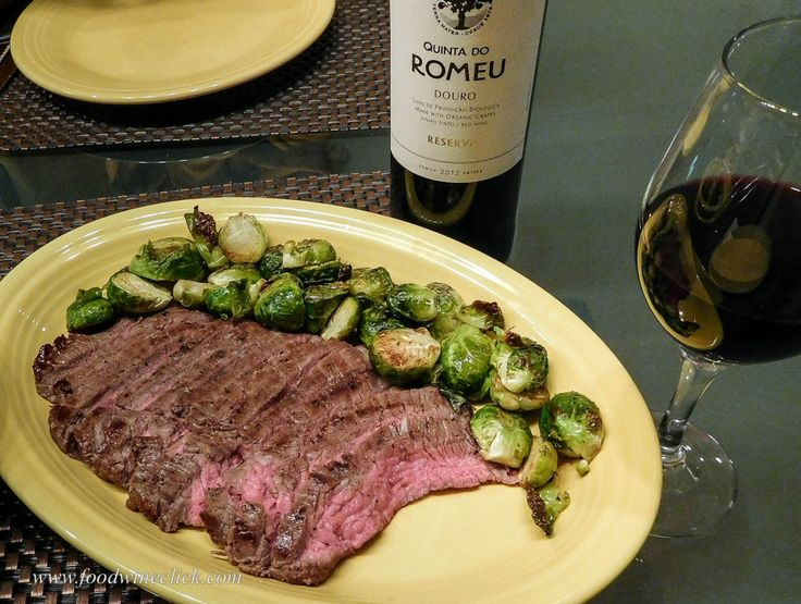 Try a Douro red wine with a simple grilled flank steak