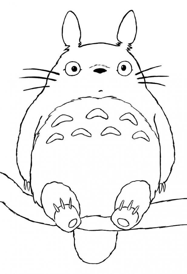 free coloring pages totoro popular japanese | 57 best Japanese Anime Coloring Pages images on Pinterest ...