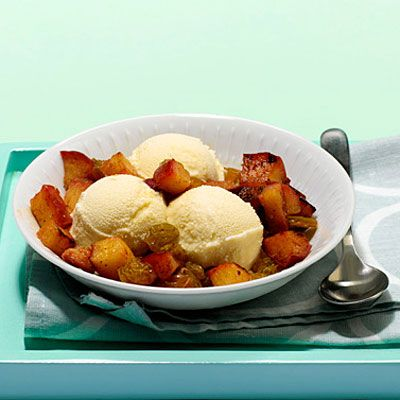 Warm Apple and Rum Raisin Topping - Healthy Apple Recipes - Health Mobile