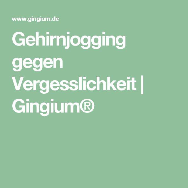 Gehirnjogging gegen Vergesslichkeit   Gingium®