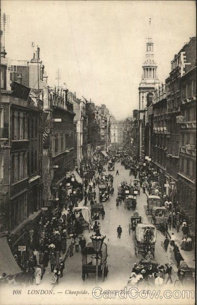 Cheapside Looking East London England