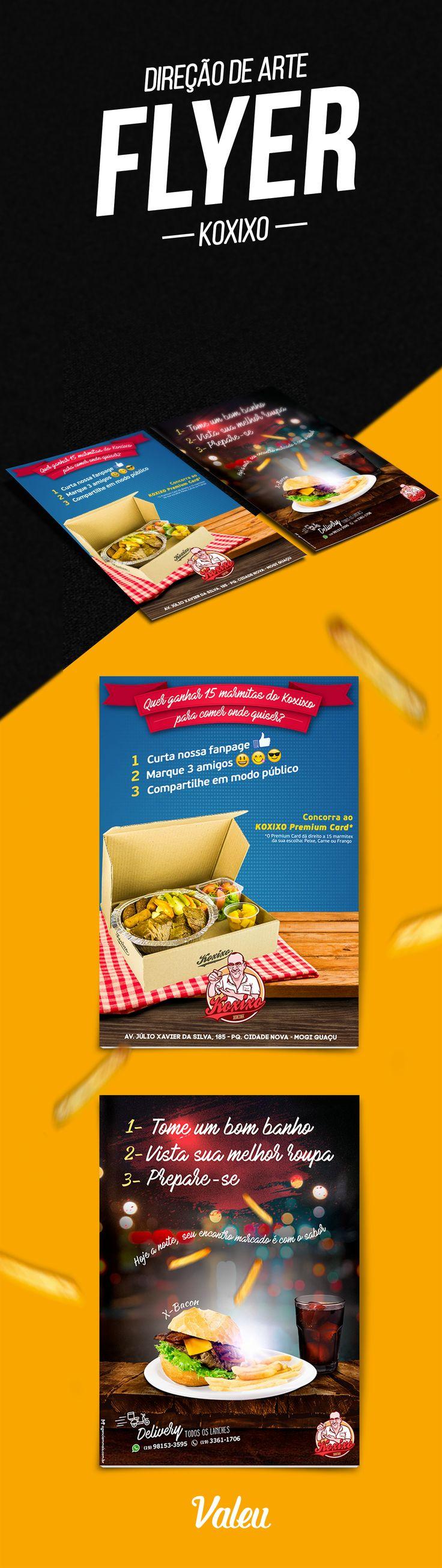 Flyer promocional - Restaurante Koxixo