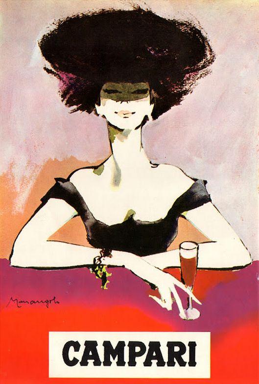 Illustration by Franz Marangolo, ca 1964, Campari. iL