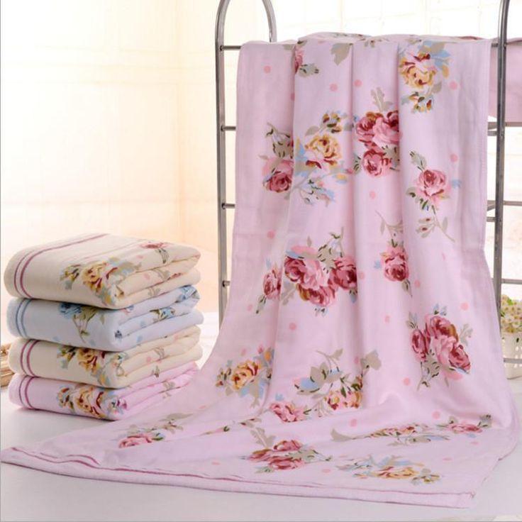 2Pcs Floral Cotton Bath Towels. Beautiful Floral patterned bath towels.Material: 100% CottonWeight: 720g2Pcs set
