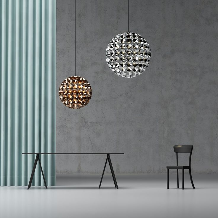 Ball-Shaped Pendant Lamp Made of 150 Single Tea-Lights: Elaine by Daniel Becker