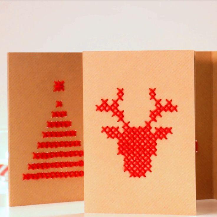 Schrijf dit jaar 'Vrolijk kerstfeest' op een zelfgemaakte kaart. In het filmpje ontdek je stap voor stap hoe je het doet.