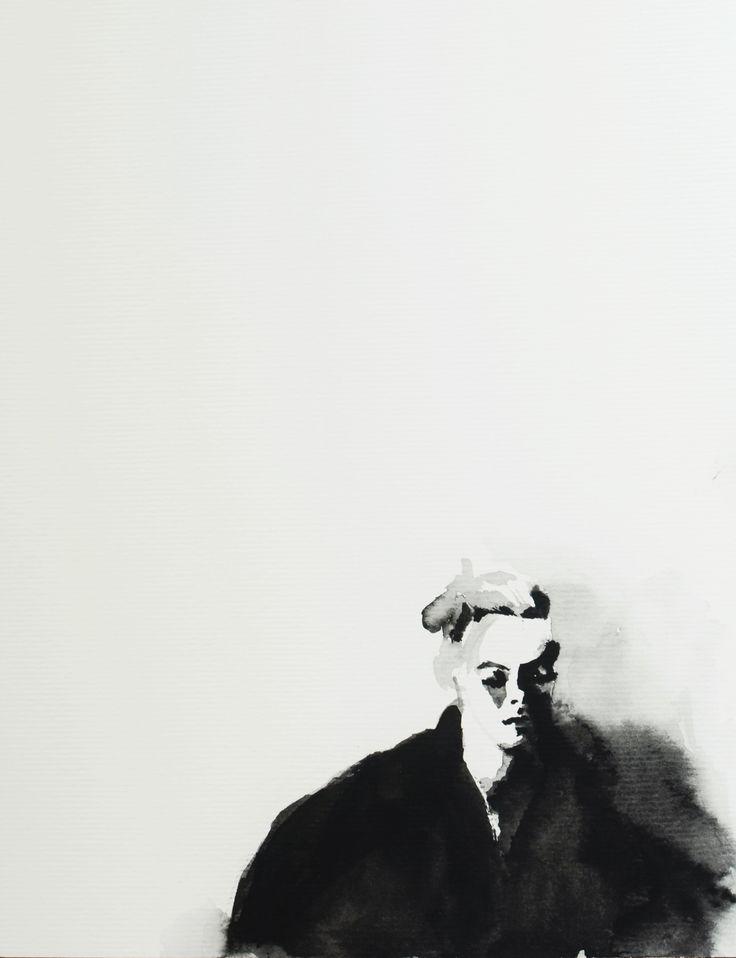 #watercolor #black&white #b&w #portrait #painting #art