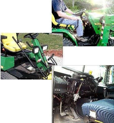 The Customized Hand Controls are a driving control system designed for use by people with lower extremity or neurological disabilities or spinal cord injury to use only their hands to operate automobiles, trucks, self-propelled lawn and garden equipment (including riding lawn mowers), and farm vehicles (including tractors). For pricing info contact manufacturer