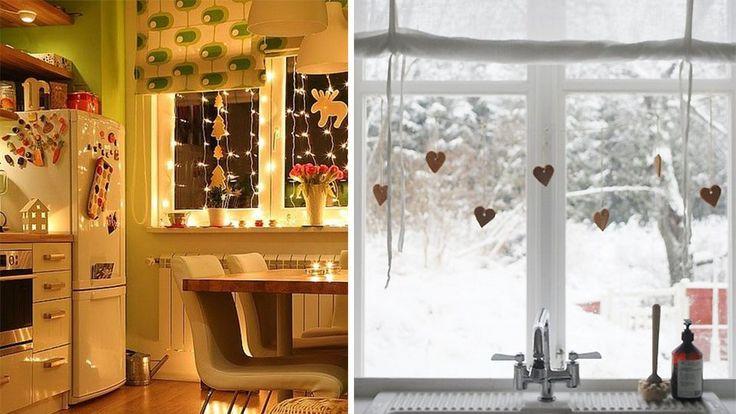 15 best decoracion cocinas navidad images on pinterest for Como decorar una cocina