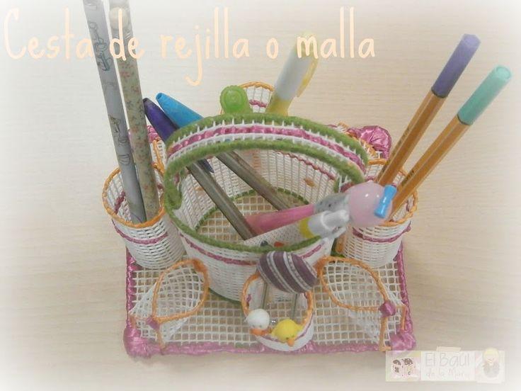 Orden en casa cesta organizadora con malla o rejilla - Ofertas de trabajos manuales para hacer en casa ...