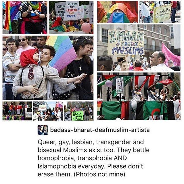 There are Muslims in the LGBT+ community, and they are as much in danger from ISIS' homophobia as white Westerners are.