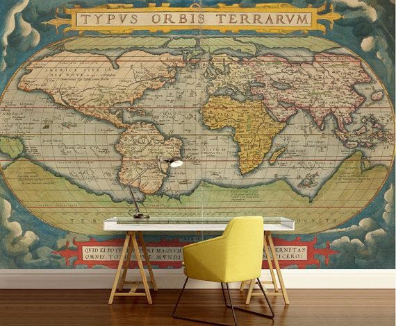 55 best world map wallpaper images on pinterest world map old world map wallpaper old map wall mural vintage world map self adhesive vinly world map wall decal retro world map unique world map gumiabroncs Choice Image