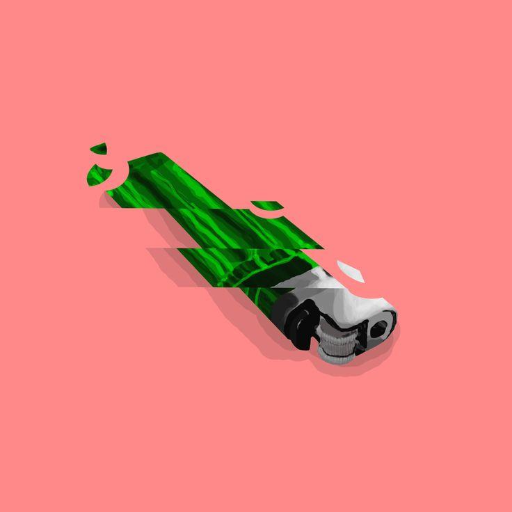 Illustration / lighter / Glass / Fragile / Digital Art / Digital Painting / Minimalism / Illustration / Design / Concept / CD Cover / Album Cover