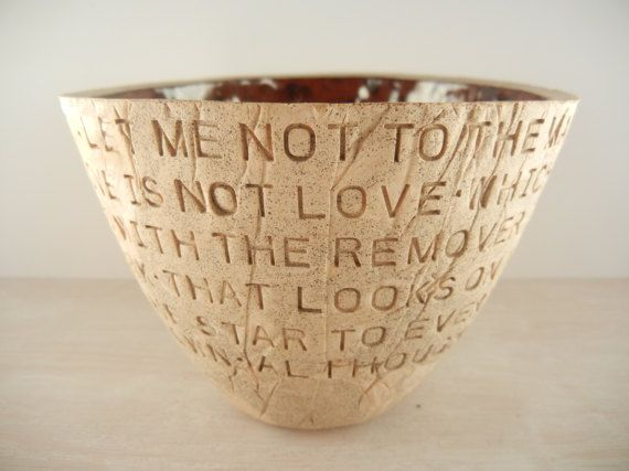 William Shakespeare  Let Me Not to the by BraidwoodPottery on Etsy