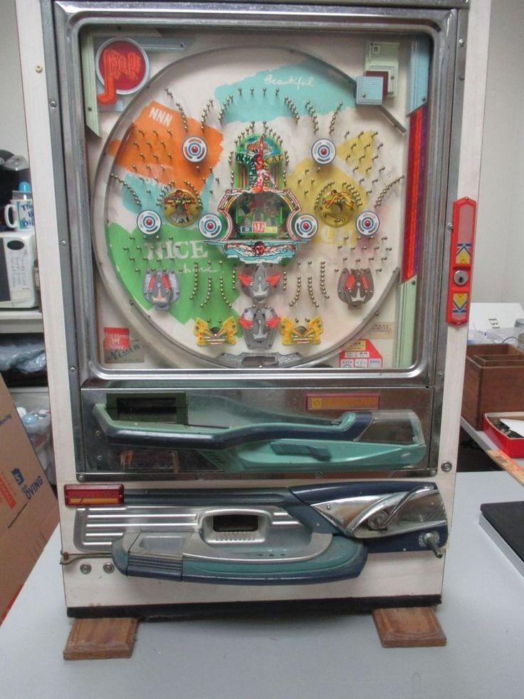 Vintage Nishijin Pachinko Japanese Pinball Machine For Restoration Parts Repair