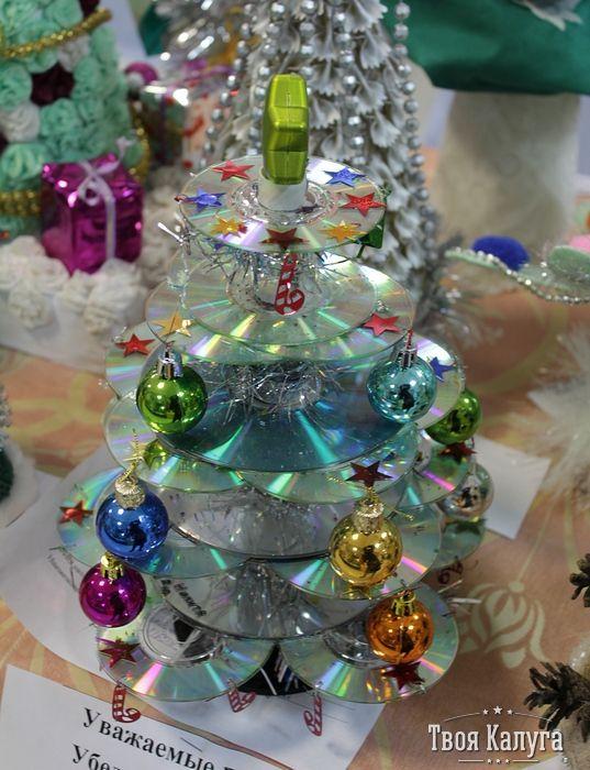 Елка из дисков. Christmas tree. Ideas