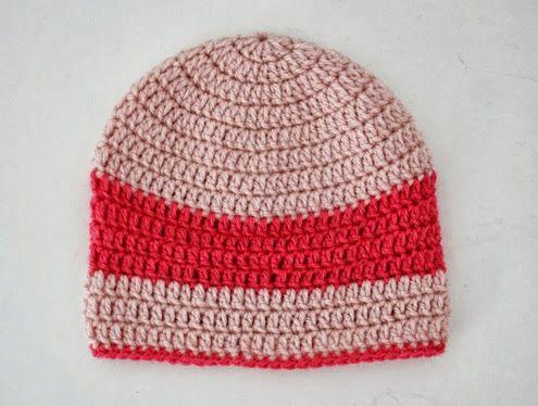 Baby beanie crochet pattern