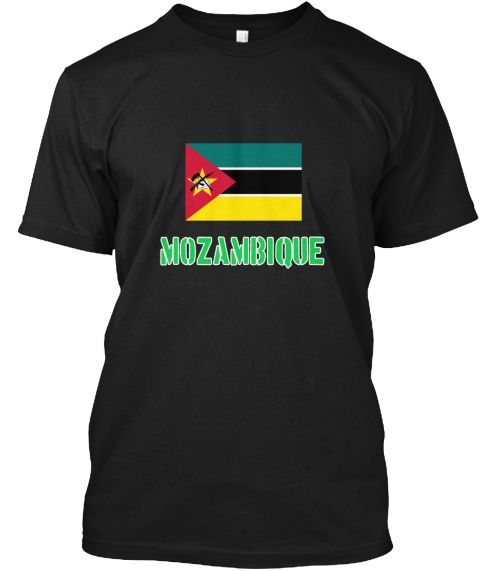Mozambique Flag Stencil Green Design Black T-Shirt Front - This is the perfect gift for someone who loves Mozambique. Thank you for visiting my page (Related terms: I Heart Mozambique,Mozambique,Mozambican,Mozambique Travel,I Love My Country,Mozambique Flag, Mozamb #Mozambique, #Mozambiqueshirts...)