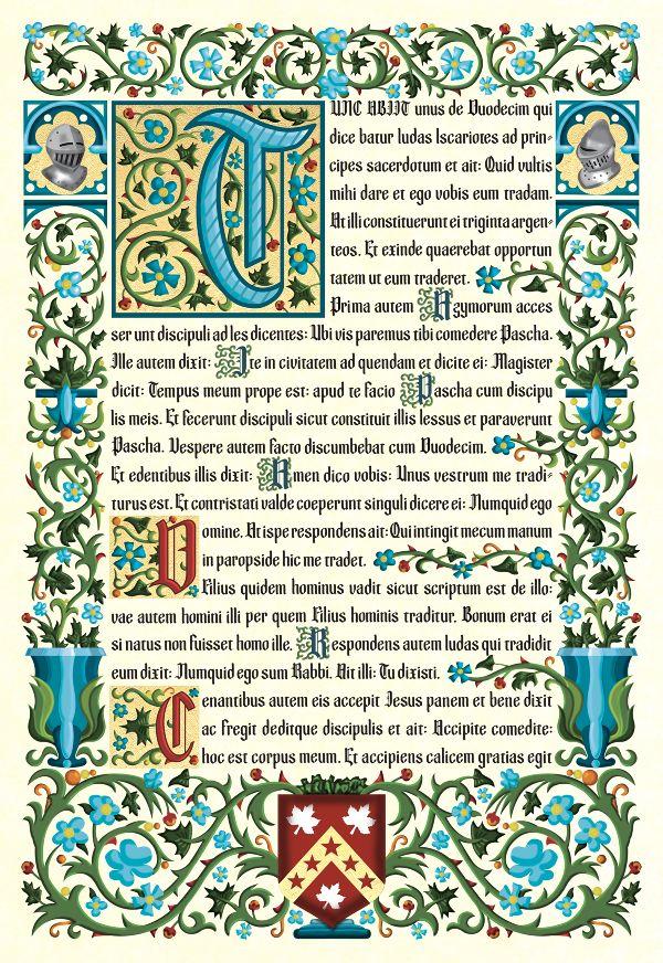 Illuminated Manuscript - Isaac Van Heuklon