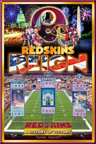 washington redskins super bowls | Details about Washington Redskins 3-TIME SUPER BOWL CHAMPIONS Poster
