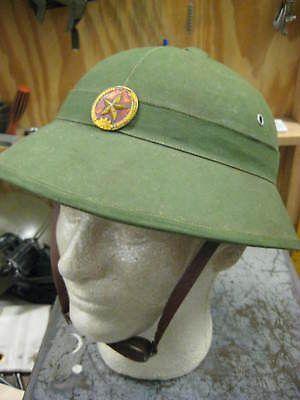 NORTH VIETNAMESE ARMY NVA PITH HELMET ORIGINAL VIETNAM BRINGBACK VC VIET CONG